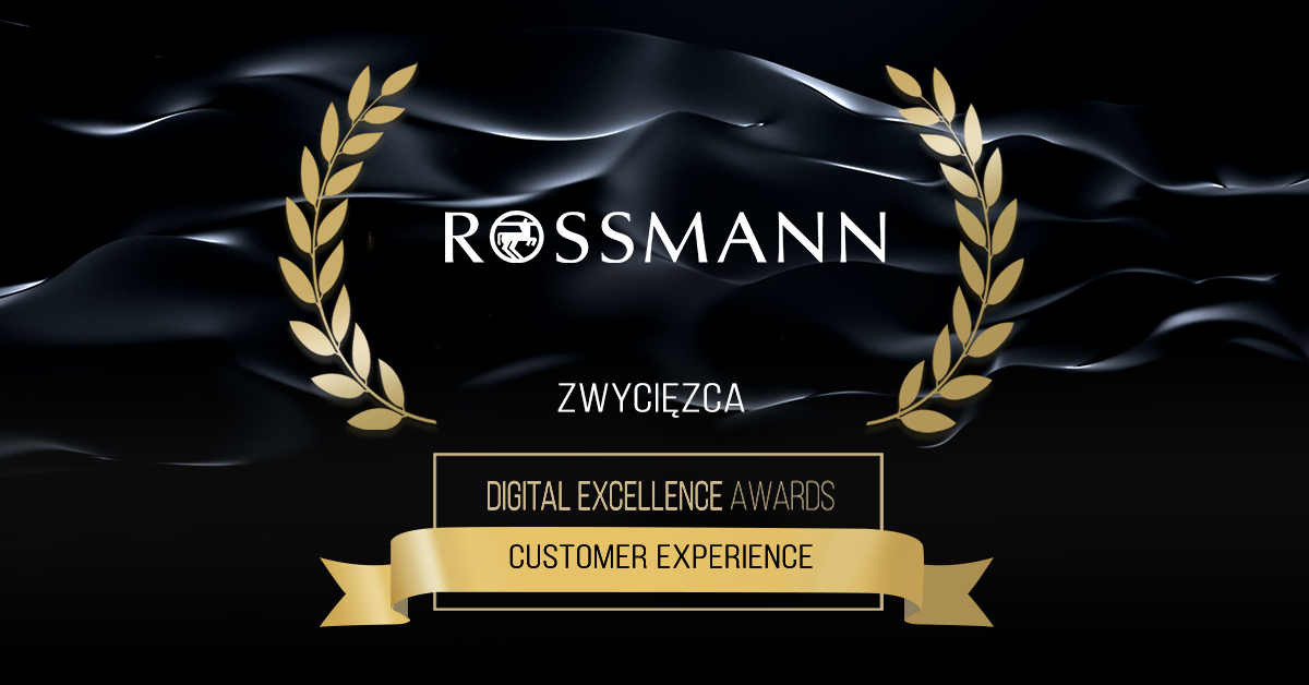 Rossmann zwycięzca Digital Excellence Awards Customer Experience